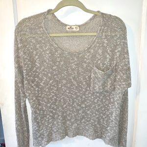 Long sleeve knit lightweight sweater
